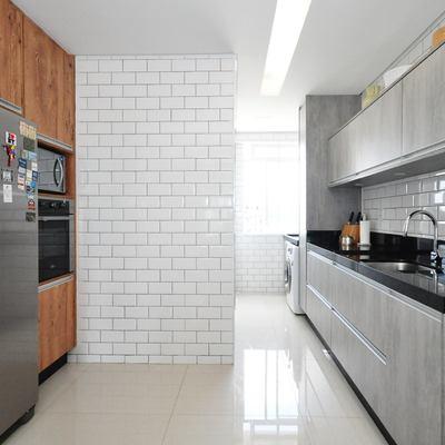 Troca de pisos e revestimetnos da cozinha e área de serviço