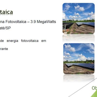 USINA FOTOVOLTAICA EM TAUBATÉ - SP