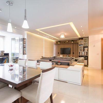 visual apartamento decorado com os moveis planejados já instalados