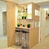 Aproveitamento de espaço com um Bar em apto decorado - construtora Jacy