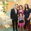 Carol Bezerra 1ª Dama de Fortaleza, com a filha e Pedro e Luara.