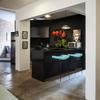 Cozinha Moderna Eclética Preta, Vermelha e Azul