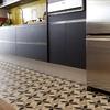 Detalhe do piso da cozinha