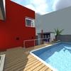 Fundos da casa - área da churrasqueira / piscina