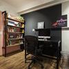 Home Office Integrado com Hall de Entrada Moderno e Contemporâneo