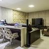 Home Theater integrado com sala de estar