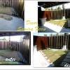 Jardim durante e depois