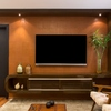 Painel da TV com luz