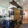 Quarto para Casal e Sala de Estar Integrados em estilo Moderno e Contemporâneo