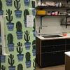 Refrigerador com estampa de cactus