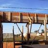 Serviço de carpintaria da viga de sustentação
