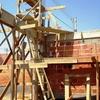 Serviço de carpintaria do poste padrão