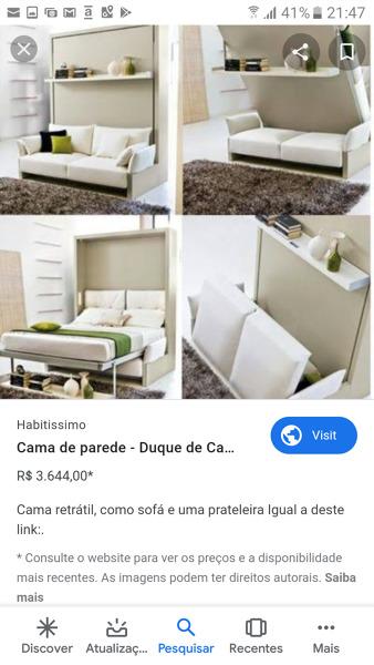 Cama embutida com sofá: onde compro?