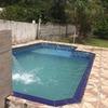 Manutenção em piscina de vinil