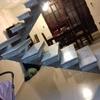 Reboco de uma escada vazada