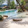 Construcao de piscina de areia compactada