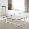 Moveis para sala em aço inox e vidro