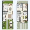 Construir casa duplex com 3 banheiros, terraço e 3 quartos acabamento moderno
