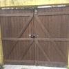 Reformar portão de garagem de madeira