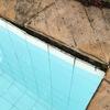 Troca de azulejos em piscina cheia