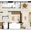 Decoração completa do apartamento no edifício vitalitá