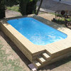 Construçâo de piscina