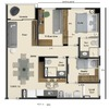 Decoraçã 64 m²o interior ap 64 m²