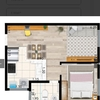 Cozinha, sala,quarto